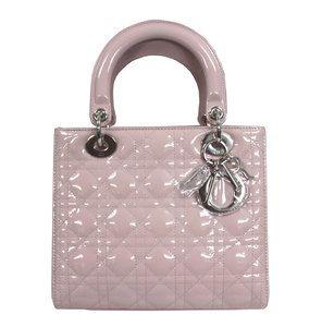 Christian Dior Lady Dior Hand Bag Pink VRB44551