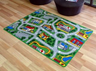 kids car road non slip play mat rug x large