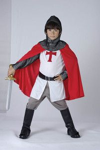 New Boys Knight Medieval Crusader Childrens Kids Fancy Dress Costume