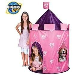 Discovery Kids Princess Play Castle Tent Pink Purple