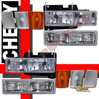 92 93 Chevy Blazer Suburban CK 1500 2500 Headlights Set