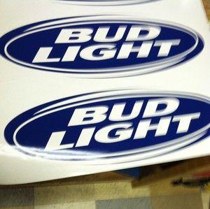 Bud Light Cornhole Board Decals Stickers 22x7 Jager Bud Jack