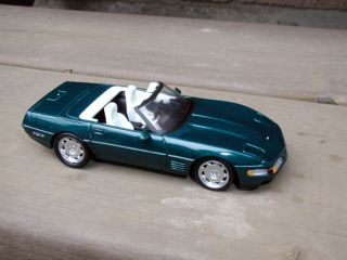 and old 1/43 model of Chevrolet Corvette ZR1 created by DetailCars