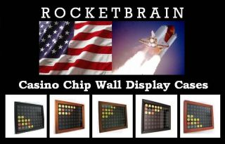 Display Cases Dark Walnut for Las Vegas Casino Chips