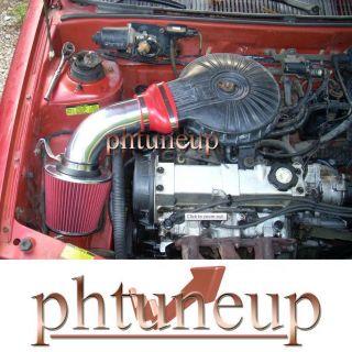 Red 1991 1997 Chevy Geo Metro 1 0 1 0L 1 3 1 3L LSI XFI Air Intake Kit