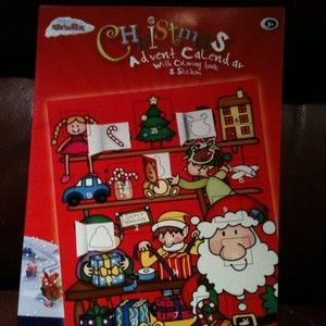 Christmas Advent Calendar With 5 Coloring Pages Lot Of 5 New Kids