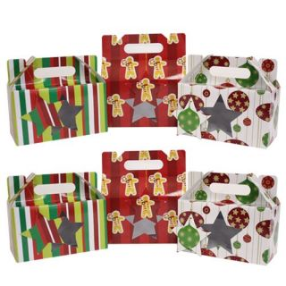 christmas holiday cookie boxes w gift tags foldable