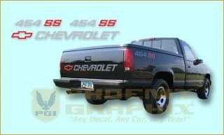 1990 1991 Chevrolet 1500 454 SS Decal Stripe Kit