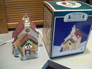 Christmas Valley Original Collectors Series Porcelain Country Church