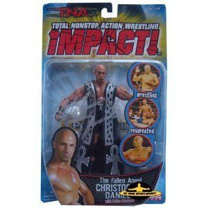 TNA Impact The Fallen Angel Christopher Daniels Figurine w/ Police