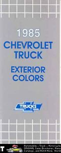 1985 Chevrolet Truck Paint Color Brochure Pickup Blazer