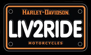 chroma graphics harley davidson liv2ride license plate decal