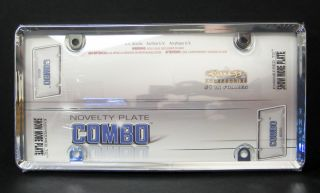 Protective Bubble License Plate Frame   Chrome and Acrylic Plastic