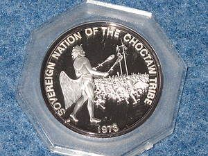CHOCTAW Tribe Silver Art Round Franklin Mint Indian Tribes C0171L