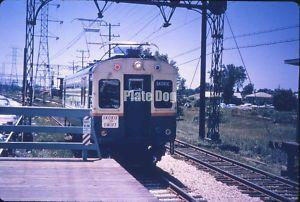 1960s Slide CTA Chicago Transit Skokie Swift at Howard Street Station