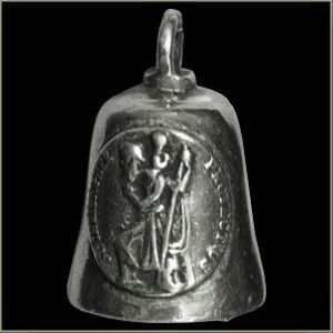 Saint Christopher Medal Motorcycle Gremlin Protection Ride Bell or