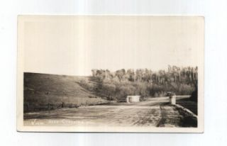 MN Chatfield Minnesota RPPC Postcard Dirt Road Old Car Bridge Cows