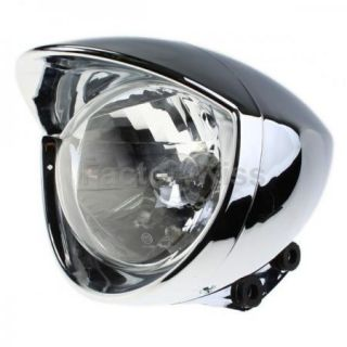 Bullet Chrome Headlight for Harley Davidson Choppers 47