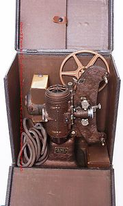 Bell Howell Vintage 8mm Movie Projector wood case with metal corners