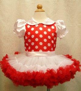 red white Christmas Baby Toddler children Tutu Girls petti Dress