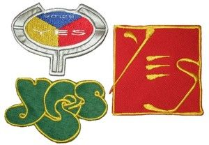Set Yes Embroidered Patches Jon Anderson Chris Squire