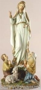 12 Our Lady of Fatima Children Statue Blessed Mother