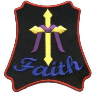 Faith Patch Embroidered Christian Biker Cross Patch