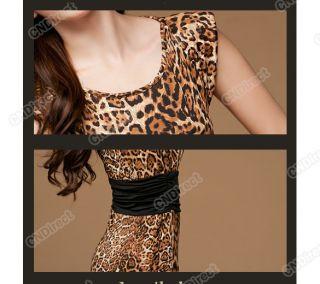 Evening Mini Party Neck Leopard Print Clubwear Business Clubbing Dress