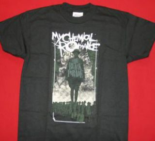 My Chemical Romance T Shirt Dark Soldier Black Size Large