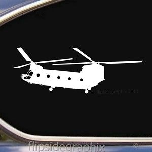 CH 47 Chinook Helicopter Aircraft Pilot Window Decal Sticker SK R01