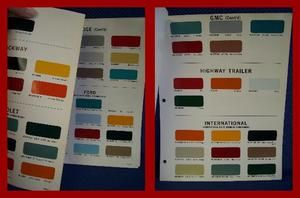 1966 Truck Paint Chip Colors Brochure Various Makes