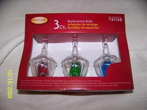 Set of 3 COLOR Christmas Tree Bubble Light Replacement Bulbs NIP