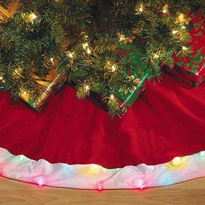 Lot of 2 520 Lighted 60 Christmas Tree Skirts