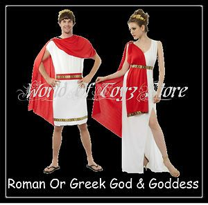 Roman Emperor Julius Caeser Men Ladies Greek God Goddess Fancy Dress