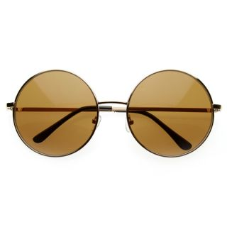 Inspired Large Oversize Full Metal Round Circle Sunglasses 8370