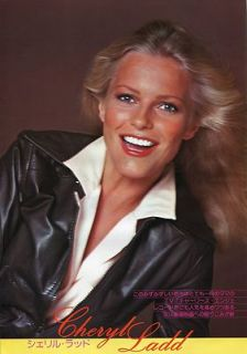 CHERYL LADD sexy 1979 JPN PINUP PICTURE CLIPPINGS (2) 8x11 Sheets #NJ