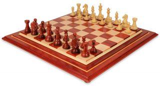 Fierce Knight Staunton Chess Set African Padauk & Boxwood Signature