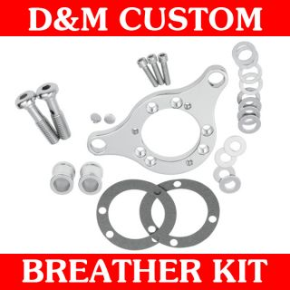Chrome Air Cleaner Breather Bracket Kit for 1991 2012 Harley Sportster
