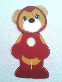 Super Hero Avenger Iron Man Costume Summer Spring Tear Bear Kira AP4P