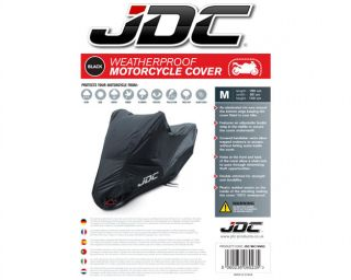 JDC Motorcycle Cover Black 100 Waterproof Large
