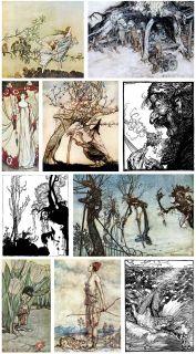 ARTHUR RACKHAM   Over 560 Illustrations & 38 Antique Books on DVD