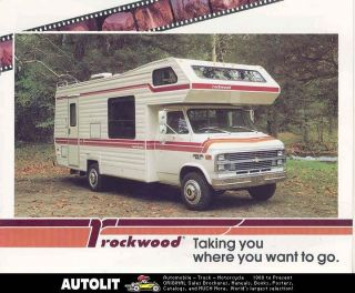 1983 Chevrolet Ford Rockwood motorhome RV Brochure