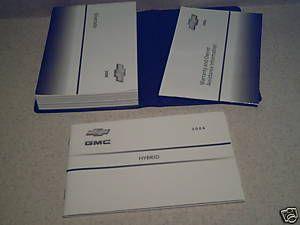2006 Chevrolet Silverado Hybrid Owners Manual w Case