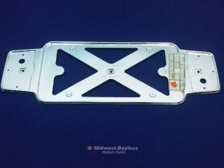 License Plate Frame Chrome Plastic (Fiat 850 Spider, 124 Coupe, 128