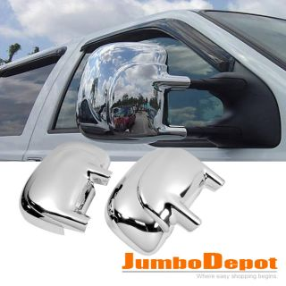 TRIPLE CHROME SIDE MIRROR COVER KIT FOR Ford F250 F350 F450 F550 SUPER