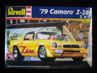 Monogram 1979 Chevy Camaro Z 28 3 in 1 Model Car Kit   Factory Sealed
