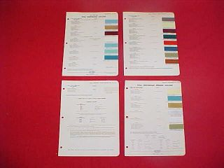 1956 Chevrolet Belair Paint Chips Color Chart Brochure 56