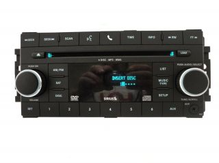 08 09 2010 Dodge Nitro Chrysler Aspen Radio AUX Sirius  DVD 6 CD