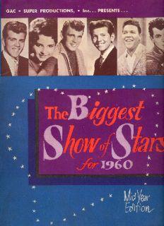 Fabian Duane Eddy 1960 Biggest Show of Stars Tour Concert Program Book