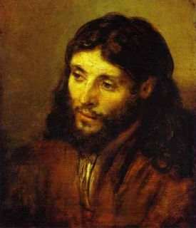 Head of Christ by Rembrandt Tender Canvas of Jesus